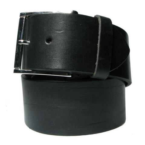 Leveä nahkavyö: Musta 51mm