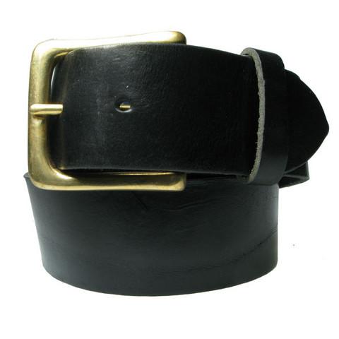 Leveä nahkavyö: Musta 45mm
