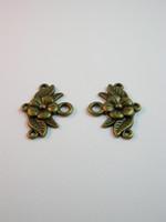 Kukka-korulinkit: Pronssi 2kpl
