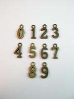 Numero-riipukset: Pronssi 0-9