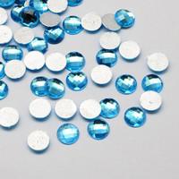 8mm Akryylistrassi: Sininen 50kpl