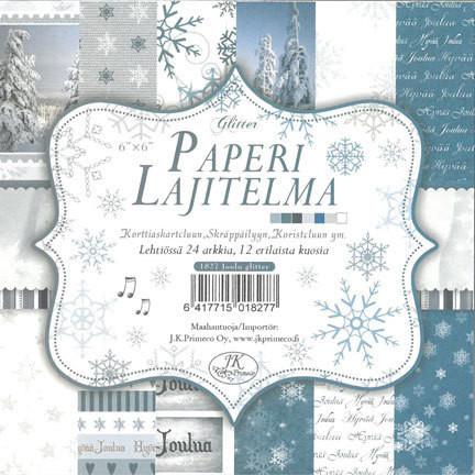 Skräppäyslehtiö: Joulu glitter 6x6