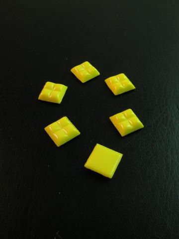 10x10cm Lasimosaiikki: Keltainen n.111kpl