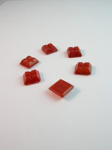 10x10cm Lasimosaiikki: Punainen n.111kpl