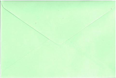 Kirjekuori C6: Vaaleanvihreä 20kpl