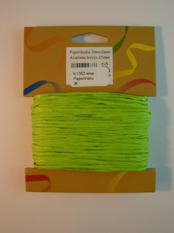 2mm Paperinaru: Lime 20m