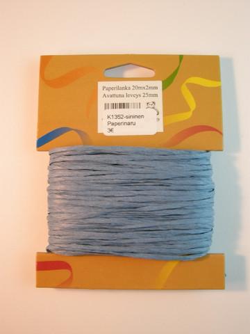 2mm Paperinaru: Sininen 20m