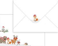 Kirjekuori C6: joulueläimet 10kpl