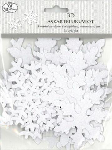 3D Askartelukuvio: Hiutale