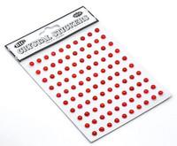 5mm Puolihelmi: Punainen 100kpl/arkki