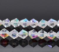 6mm Kristallibicone: Kirkas 10kpl