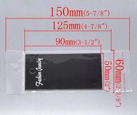 Pakkaus korvakoruille: Musta 100kpl