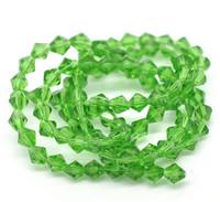 6mm Kristallibicone: Vihreä 10kpl