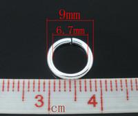 9mm Hopeoidut Välirenkaat 30kpl