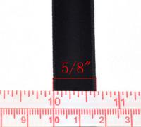 16mm Samettinauha: Musta