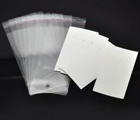 Pakkaus korvakoruille: Valkoinen 100kpl
