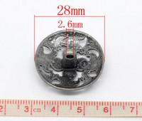 Metallinappi 1kpl: 28mm K170B