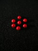 6mm Puolihelmi 100kpl: Punainen