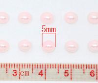 5mm Puolihelmi: Pinkki 100kpl/arkki