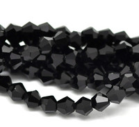 6mm Kristallibicone: Musta 10kpl