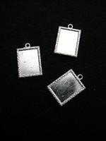 Korupohja: Platina 1kpl 25x18mm