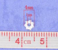 4mm Rondellit: Hop. 40kpl