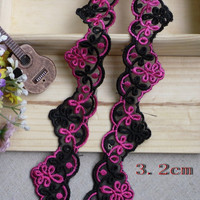 Pitsinauha: Musta/violetti 3,2cm