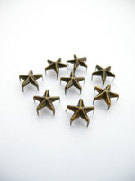10mm Tähtiniitit: Pronssi 10kpl