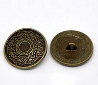 25mm Metallinappi: Pronssi 1kpl