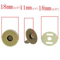 Magneettilukko 18mm: Pronssi 1kpl