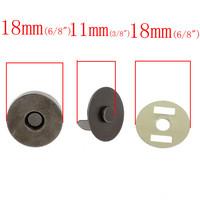 Magneettinappi 18mm: Musta 1kpl