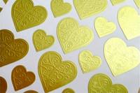 Sydän-tarrat: Kulta 112kpl