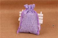 14x10cm Juuttipussi: Violetti