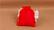 14x10cm Juuttipussi: Punainen