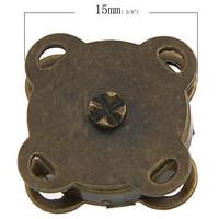 15mm Magneettinappi: Pronssi 1kpl
