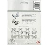 3D Askartelukuvio: Hopea perhonen