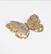 3D Askartelukuvio: Kulta perhonen