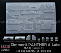 Zimmerit Panther A Late M.A.N Pattern #1 (Meng Kit) 1/35