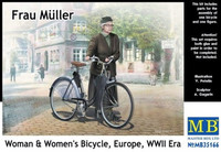 Frau Muller, Woman & Womens Bicycle WWII 1/35