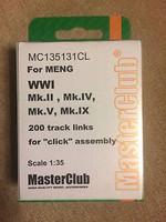 Tracks for Mk.IV, Mk.II, Mk.V, Whippet tanks 1/35