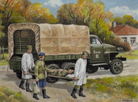 STUDEBAKER US6 WITH Soviet MEDICAL PERSONNEL 1/35