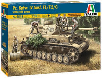 PzKpfw IV Ausf.F1/F2/G Early with 5 Figures Crew 1/35