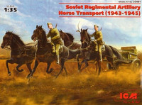 Soviet Regimental Artillery Horse Transport (1943-1945) 1/35