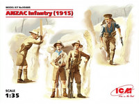 ANZAC Infantry 1915 (4 Figures Australian and New Zealand Army Corps) 1/35