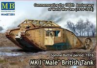 "Mk.I ""Male"" British WW I Tank 1/72"