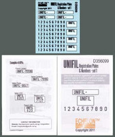UNIFIL Registration Plates & Numbers - set 1 1/35