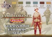German WW II Uniform Color set 1 (6 colors)