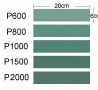 Hiomapaperi tarrataustalla ( 6 arkkia, karkeudet 600,800,1000,1500 ja 2000. Arkin koko 6 X 20cm