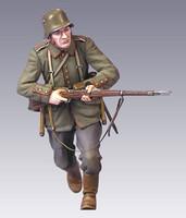German Soldier WWI, charging 1/35