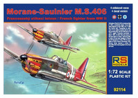 Morane Sauliner M.S.406 French Fighter WWII 1/72